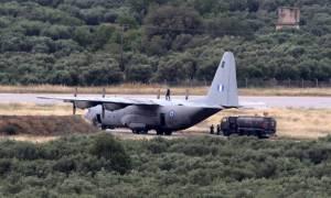 Τετραπλή αεροδιακομιδή με C130 από τη Σαντορίνη