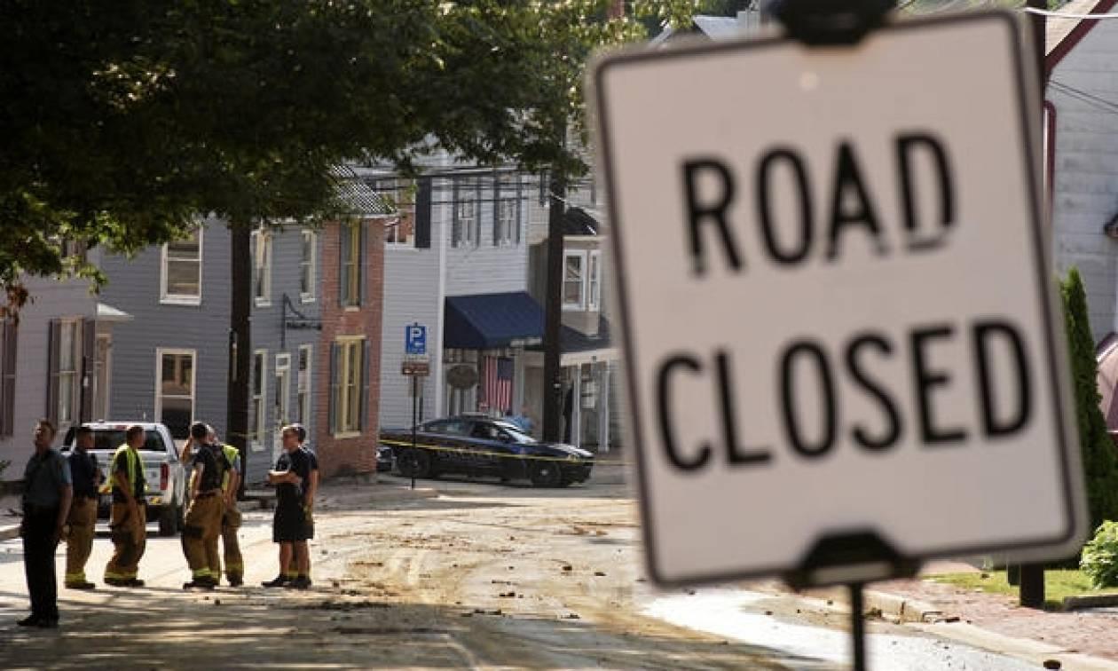 ΗΠΑ: Δύο νεκροί από τις σφοδρές βροχοπτώσεις στο Μέριλαντ (pics+vid)