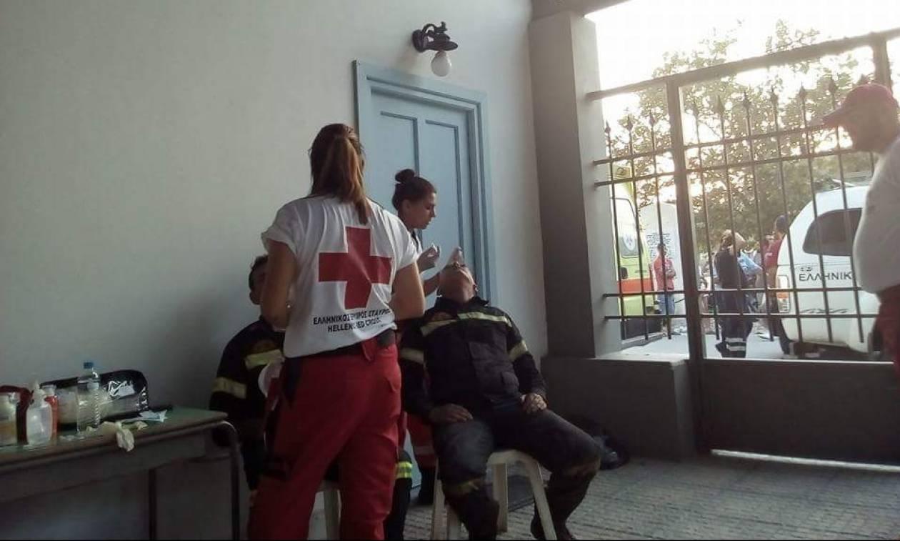 Φωτιά Εύβοια: Πρώτες βοήθειες από τους Σαμαρείτες του Ερυθρού Σταυρού