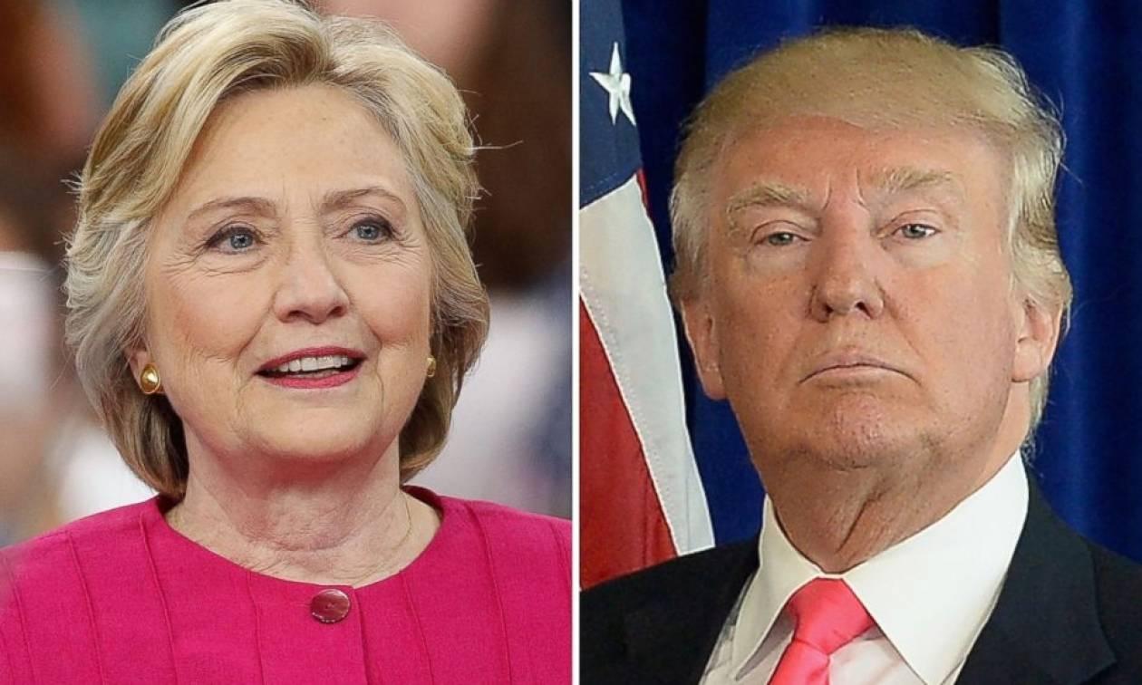 Προεδρικές εκλογές ΗΠΑ 2016: Ανοίγει η ψαλίδα υπέρ της Χίλαρι