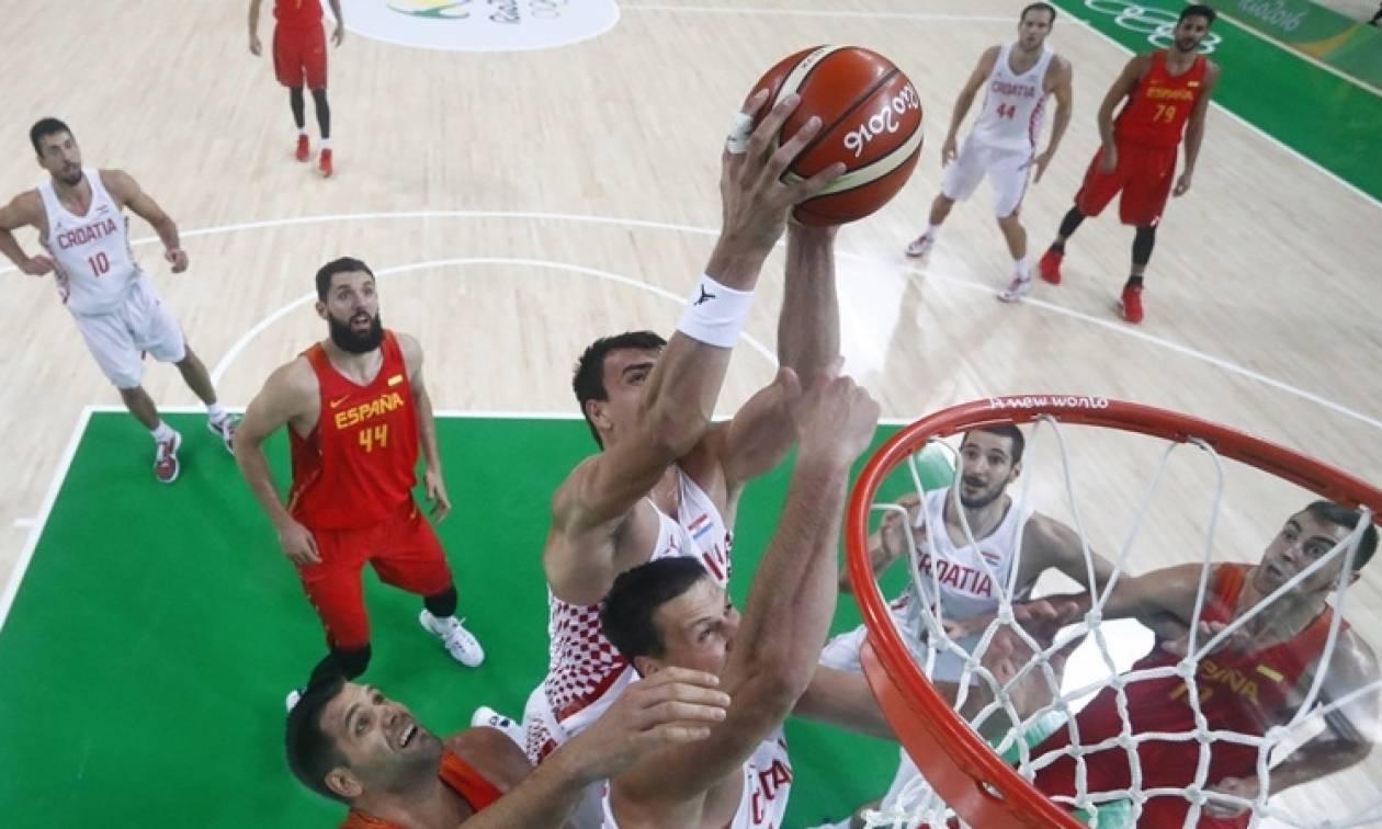 Ολυμπιακοί Αγώνες 2016 - Μπάσκετ: Μεγάλη νίκη της Κροατίας επί της Ισπανίας με 72-70