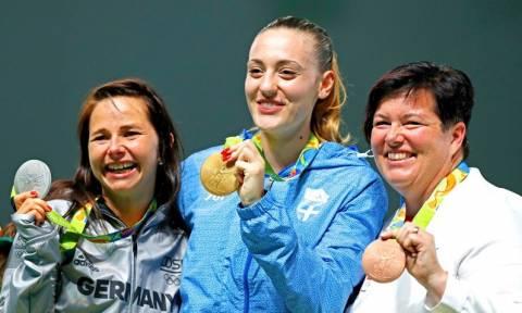 Shooter Anna Korakaki wins first gold for Greece in Rio