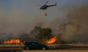 Γαλλία: Μεγάλη φωτιά σαρώνει την περιοχή της Μασσαλίας - Τρεις σοβαρά τραυματίες (pics)