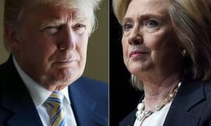 Εκλογές ΗΠΑ: Τι δείχνει η τελευταία δημοσκόπηση για τη «μάχη» Χίλαρι - Τραμπ