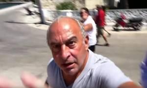 Χαμός στην Ιθάκη με μεγιστάνα και δημοσιογράφο: «Θα πετάξω την κάμερα στη γ@...νη θάλασσα» (vid)