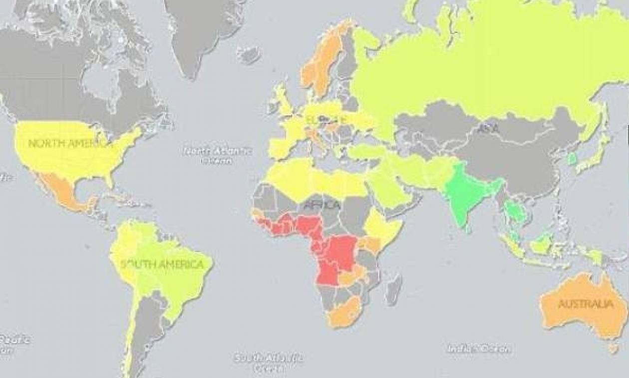 Δείτε σε ποια θέση βρίσκονται οι Έλληνες στον παγκόσμιο χάρτη ανδρικού μορίου