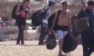 Μετανάστες έφτασαν στη… Μύκονο (video)