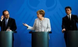 Συνάντηση Μέρκελ, Ρέντσι και Ολάντ για την επανεκκίνηση της Ευρώπης μετά το Brexit