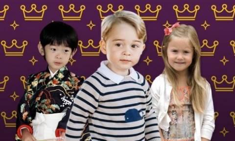 Μικροί πρίγκιπες & μικρές πριγκίπισσες ανά τον κόσμο.... διδάσκουν στιλ!