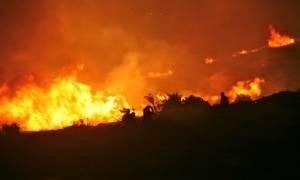 Φωτιά καίει δασική έκταση στον Ασπρόπυργο