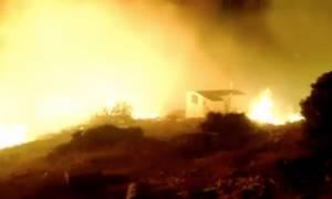 Πύρινος εφιάλτης σε Ασπρόπυργο, Μενίδι και Χίο – Απειλήθηκαν σπίτια