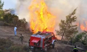 Φωτιά τώρα στο Ποδοχώρι Καβάλας