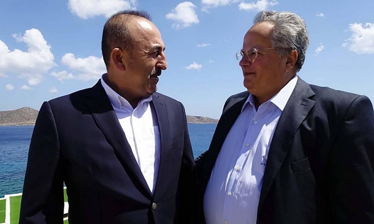 Οι ελληνοτουρκικές σχέσεις στο επίκεντρο της συνάντησης Κοτζιά - Τσαβούσογλου