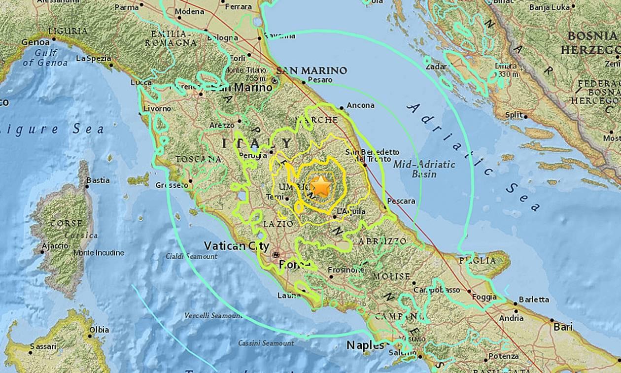 Νέος σεισμός 4,3 Ρίχτερ στην Ιταλία