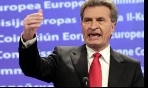 Έτινγκερ: Απίθανη η ένταξη της Τουρκίας στην ΕΕ με τον Ερντογάν στην εξουσία