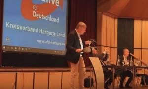 Γερμανία: Επίθεση με... κατεψυγμένη τούρτα στον πρόεδρο του AfD (vid)