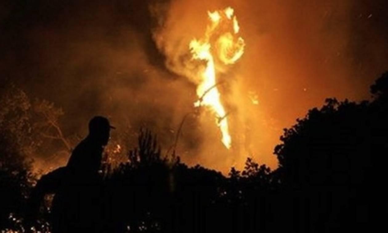 Συναγερμός για μεγάλη φωτιά στο Ξυλόκαστρο