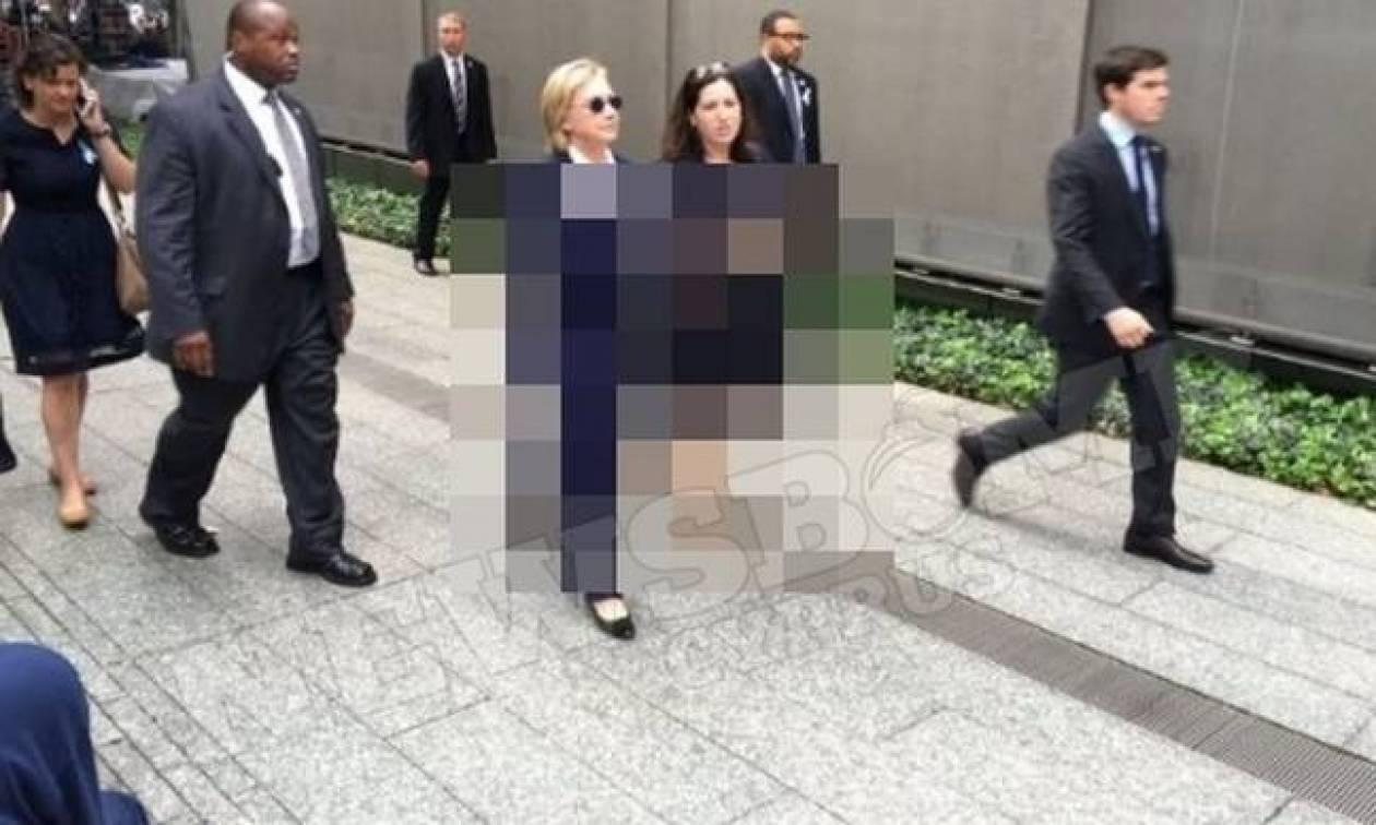 Εικόνες που αποδεικνύουν ότι η Χίλαρι Κλίντον δεν πάσχει από πνευμονία