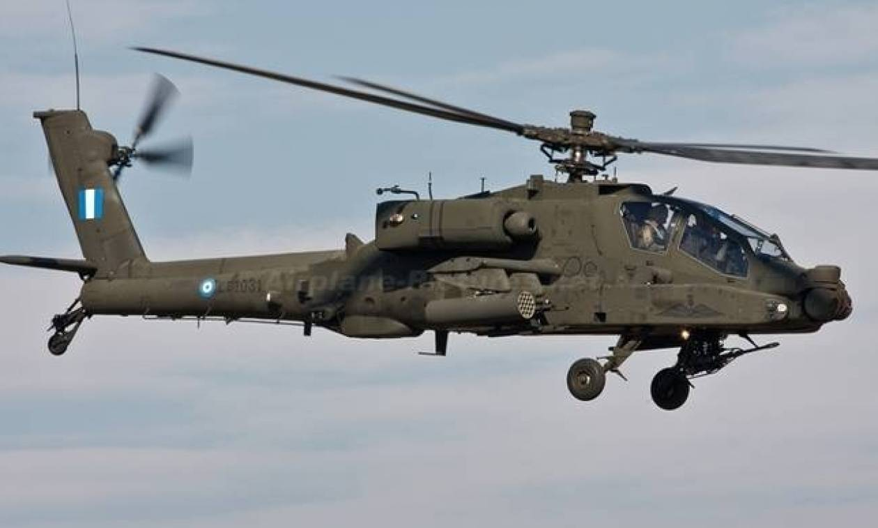 ВГреции разбился военный вертолет АН-64 Apache