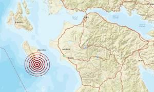 Σεισμός 3,6 Ρίχτερ νότια της Ζακύνθου