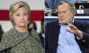 Είδηση-βόμβα στις ΗΠΑ: Ο Τζορτζ Μπους θα ψηφίσει Χίλαρι Κλίντον και όχι Ντόναλντ Τραμπ (Vid)