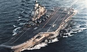 Το αεροπλανοφόρο «Ναύαρχος Κουζνετσόβ» στις ακτές της Συρίας με 26 μαχητικά αεροσκάφη