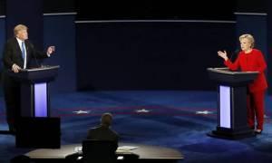 Εκλογές ΗΠΑ 2016: Κλίντον - Τραμπ: σημειώσατε 1