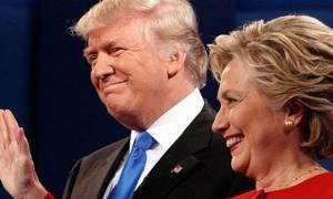 ΗΠΑ: Πέντε μονάδες προηγείται η Χίλαρι του Τραμπ σύμφωνα με νέα δημοσκόπηση