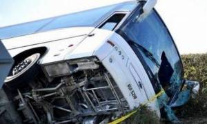 Tρομακτικό ατύχημα: Αναποδογύρισε πούλμαν οπαδών της Ρέιντζερς! (photos)