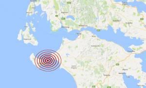 Σεισμός 4,5 Ρίχτερ Μεταξύ Ζακύνθου και Κυλλήνης (pic)