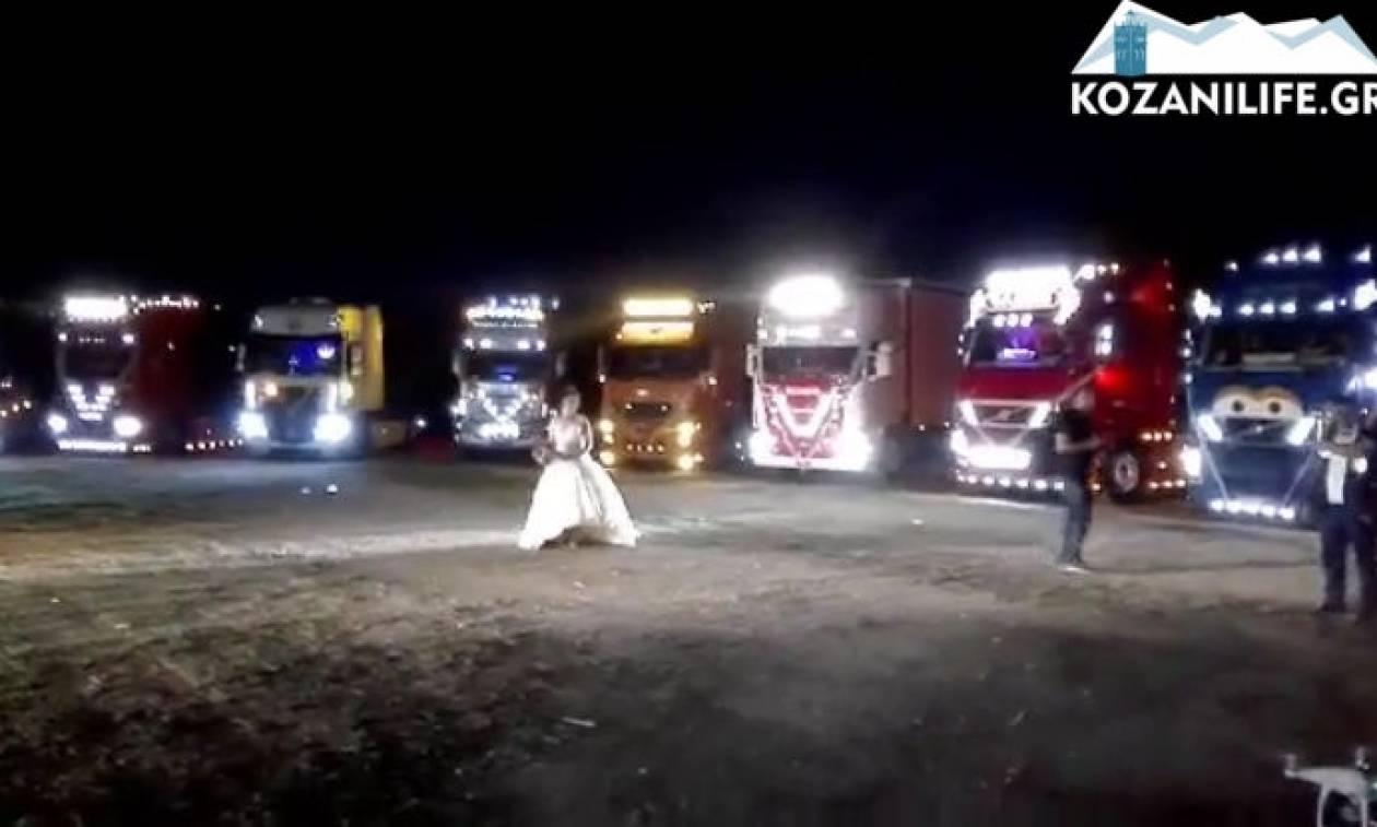 Θεσσαλονίκη: Δεν θα πιστεύετε πώς συνόδευσαν αυτή τη νύφη στην εκκλησία (video)