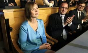 Εσθονία: Πρώτη γυναίκα πρόεδρος της χώρας εξελέγη από το κοινοβούλιο η 46χρονη Κέρστι Κάλιουλαϊντ