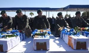 Τιμή και Δόξα! Στην Ελλάδα τα λείψανα των ηρώων καταδρομέων που «έπεσαν» στην Κύπρο