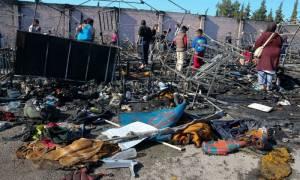 Χίος: Ξεσηκωμός προσφύγων με επέμβαση των ΜΑΤ - Πυρκαγιά  στον καταυλισμό έκαψε έξι οικισμούς