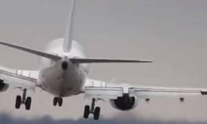 Προσγείωση αεροσκάφους που κόβει την ανάσα (vid)