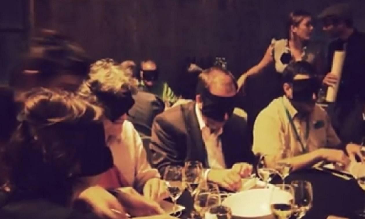 Σε αυτό το εστιατόριο δεν τρως με τα μάτια ανοικτά... (video)