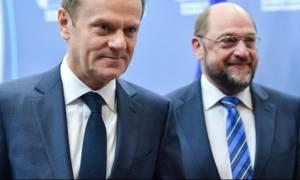 Σουλτς - Τουσκ προεξοφλούν πως οι κυρώσεις σε βάρος της Ρωσίας θα παραταθούν