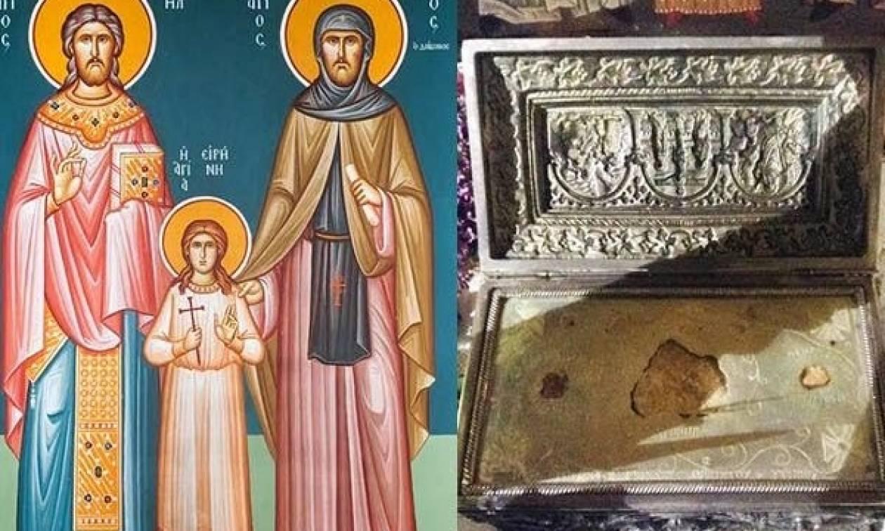 Λείψανα των Αγ. Ραφαήλ, Νικολάου και Ειρήνης από την Λέσβο στην Βέροια