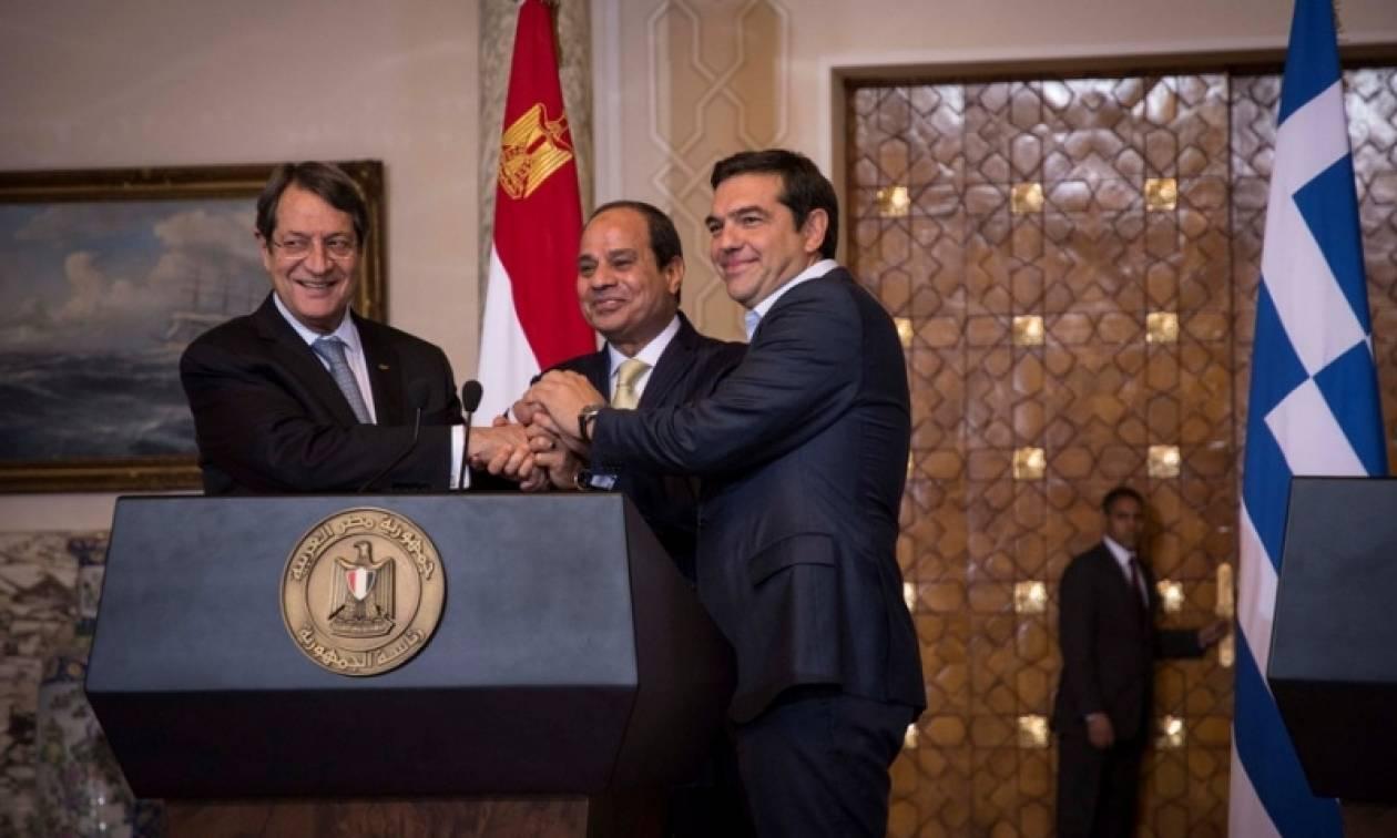 Ενεργειακό, μεταναστευτικό και μεταφορές στην κοινή διακήρυξη Ελλάδας - Κύπρου - Αιγύπτου