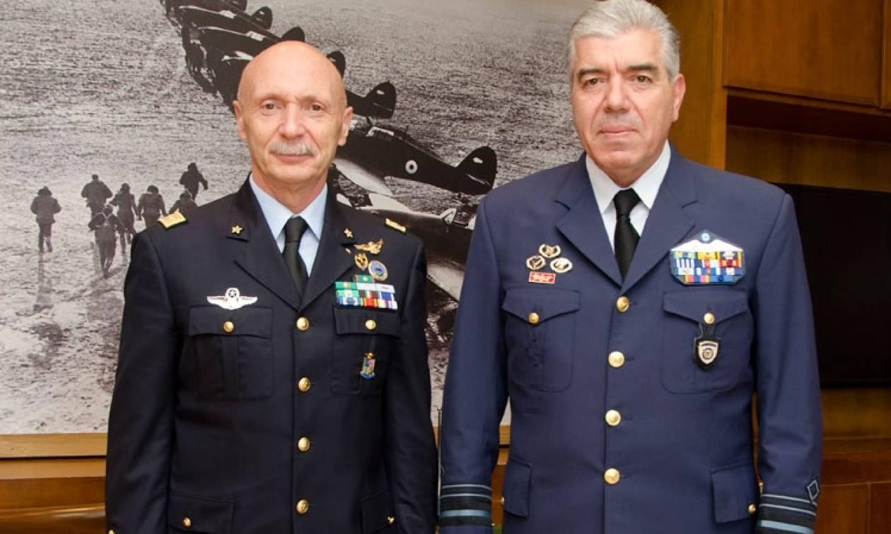Συνάντηση Αρχηγού ΓΕΑ με τον Αρχηγό της Ιταλικής Πολεμικής Αεροπορίας (pics)