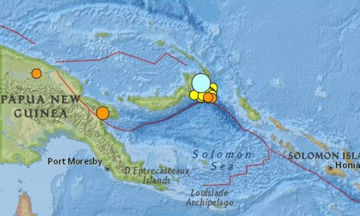 Ισχυρή σεισμική δόνηση στην Παπούα Νέα Γουινέα