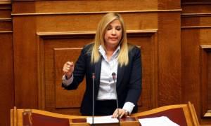 Γεννηματά: Τα νησιά της Ελλάδας έχουν γίνει αποθήκες ψυχών με ευθύνη της κυβέρνησης