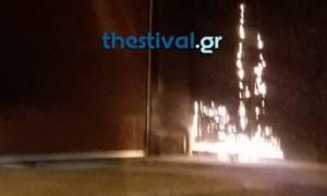 Αναστάτωση στη Θεσσαλονίκη: Άγνωστοι πέταξαν βόμβες μολότοφ