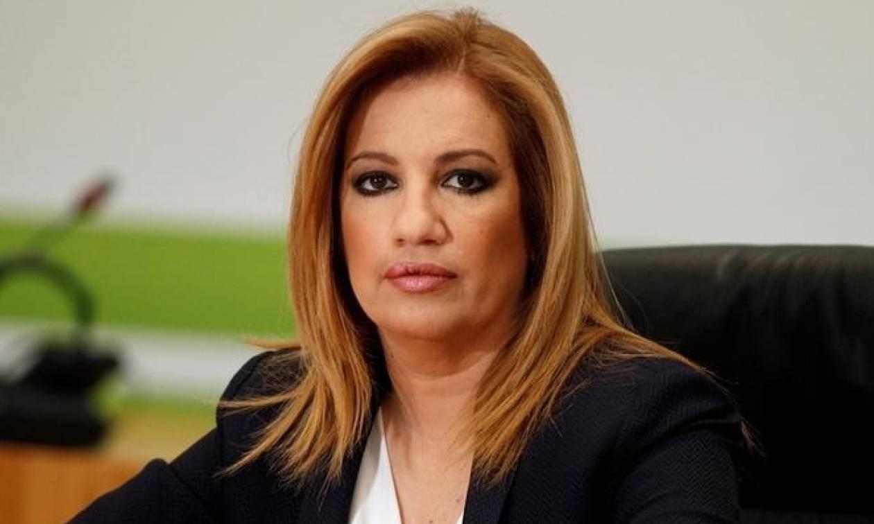 Γεννηματά: Όχι αμήχανη αδυναμία επιβάλλουν οι συνεχείς προκλητικές δηλώσεις του Ερντογάν