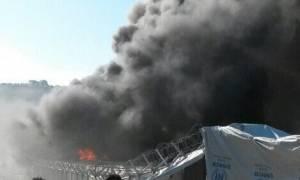 Εξέγερση μεταναστών στη Μόρια - Στις φλόγες το hot spot (vids)