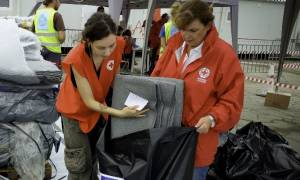 Χειμερινά είδη σε πρόσφυγες και μετανάστες διένειμε ο Ελληνικός Ερυθρός Σταυρός