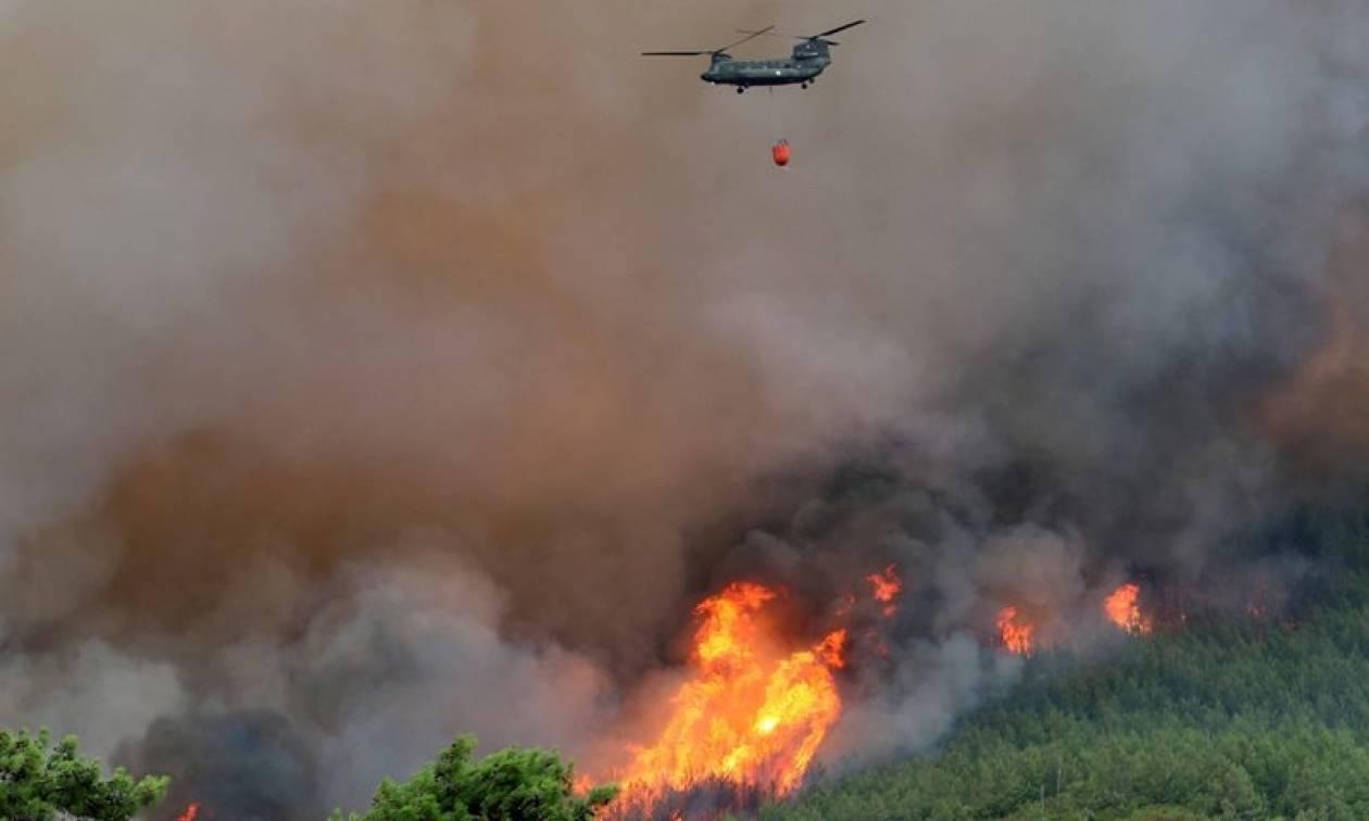 Μεγάλη φωτιά στη Μυτιλήνη