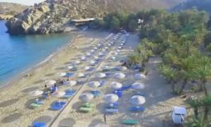 Το μέρος της Κρήτης που έχει πάντα καλοκαίρι, από ψηλά! (video)