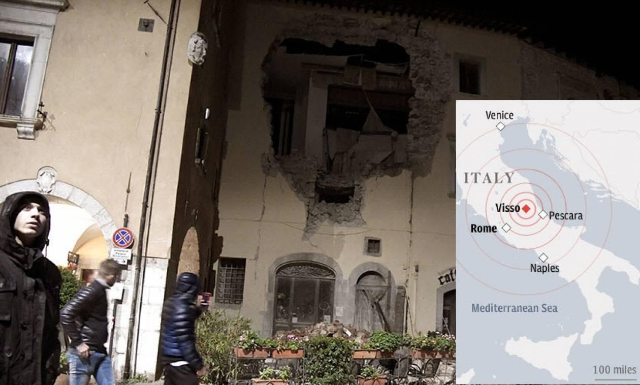 Σεισμός Ιταλία: O τρόμος επέστρεψε και είχε μέγεθος 6,1 Ρίχτερ