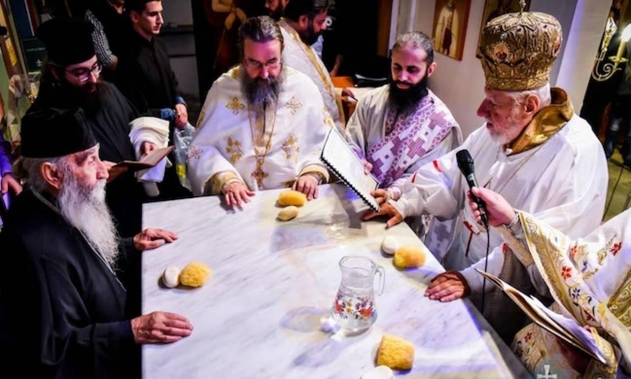 Εγκαίνια Ιερού Ναού από τoν Μητροπολίτη Περιστερίου